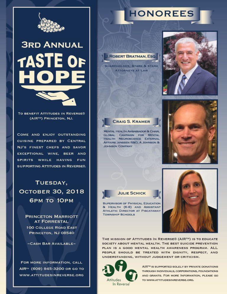 Taste of Hope 2018 Front Image